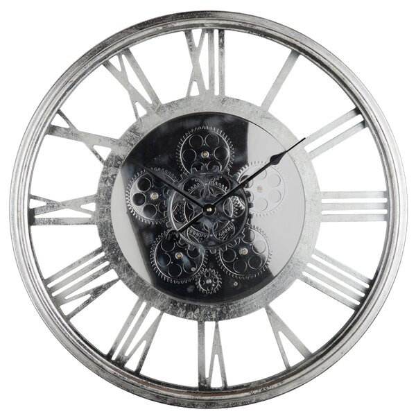 Transitional Iron 21.5 Wall Clock by Trent Austin Design
