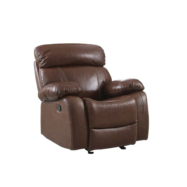 Heyman Leather Power Recliner by Red Barrel Studio