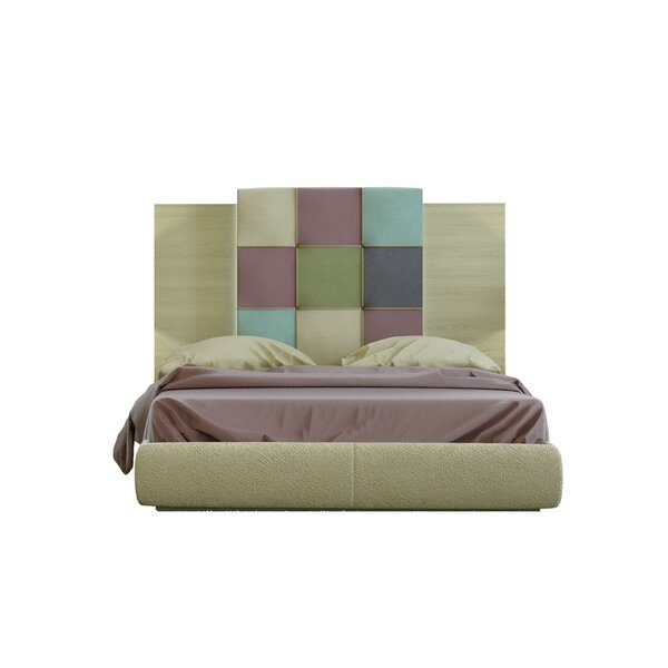 Matsumoto King Upholstered Standard Bed by Orren Ellis