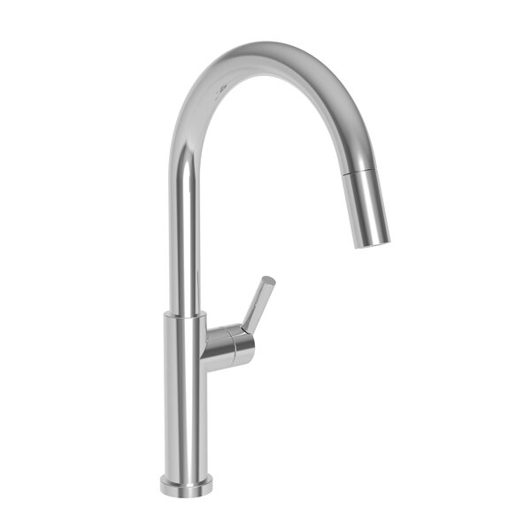 East Linear Pull Down Single Handle Kitchen Faucet by Newport Brass Newport Brass