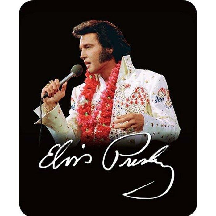 Ferid Ultra Plush Aloha Elvis Presley in Hawaii Faux Fur Blanket