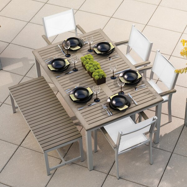 Farmington 6 Piece Dining Set with Stackable Chairs by Latitude Run