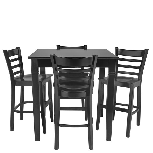 Weisberg 5 Piece Pub Table Set by Red Barrel Studio