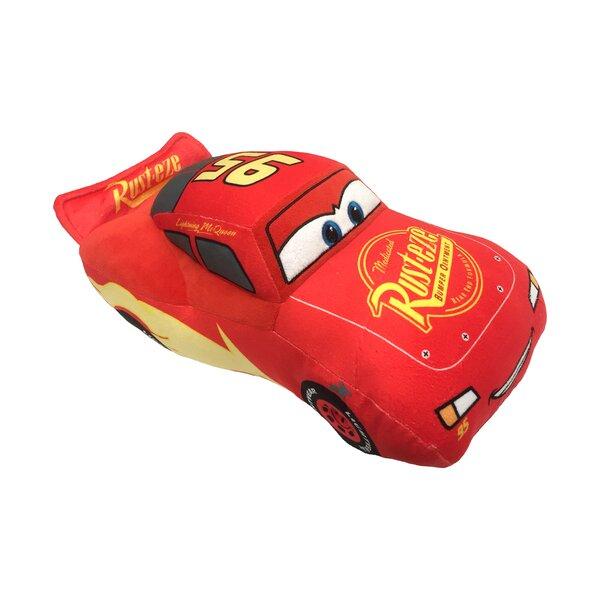 Disney Pixar Cars 3 Movie Lightning Mcqueen Plush Throw Pillow by Warner Brothers