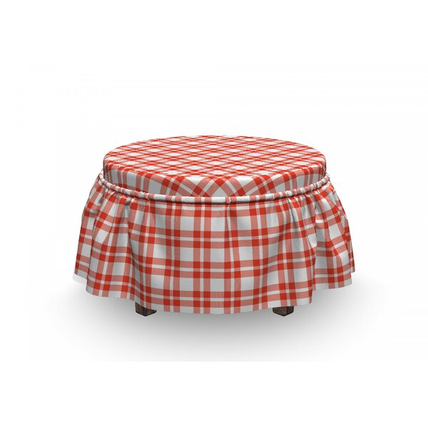 Checkered Country Picnic Ottoman Slipcover (Set Of 2) By East Urban Home