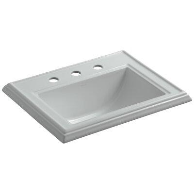 Drop Sink Ceramic Rectangular Overflow Faucet photo