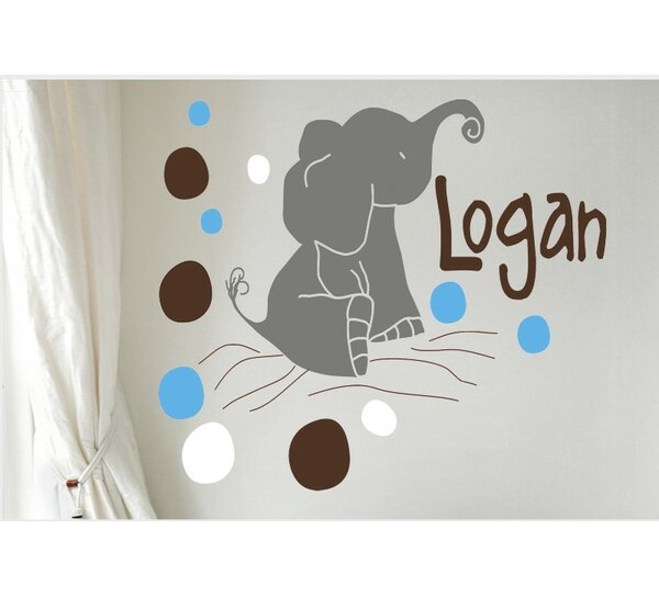 Personalized Elephants Wall Decal by Alphabet Garden Designs