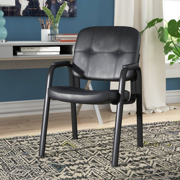 Wickliffe Leather Guest Chair by Ebern Designs
