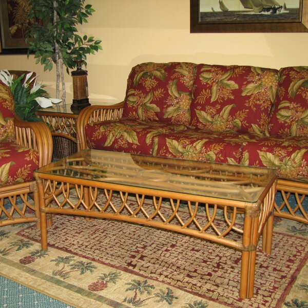 Montego Bay 2 Piece Coffee Table Set by Spice Islands Wicker Spice Islands Wicker