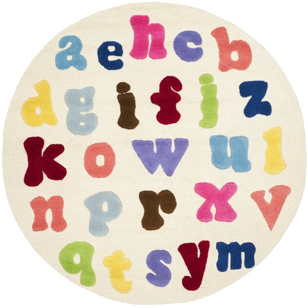 Claro Alphabet Area Rug by Harriet Bee