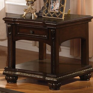 Top Reviews Wentz End Table with Storage By Astoria Grand