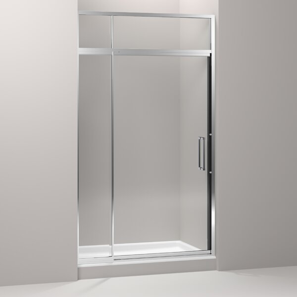 Lattis 48 x 89.5 Pivot Shower Door with Sliding Steam Transom with CleanCoat® Technology by Kohler