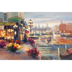 Grand Canal by Lawson Painting Print on Wrapped Canvas by Portfolio Canvas Decor