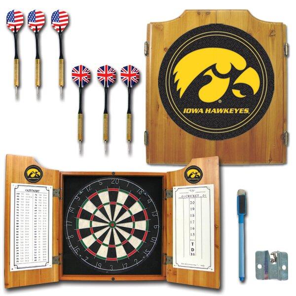 University of Iowa Dart Cabinet in Medium Wood by Trademark Global