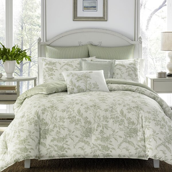 Laura Ashley Home Natalie 100% Cotton Comforter Set By