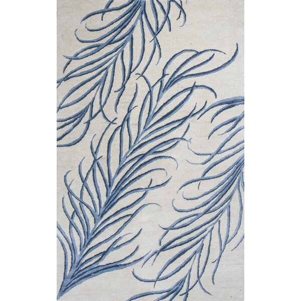Bob Mackie Home Ivory/Blue Plume Area Rug by Bob Mackie Home by KAS Rugs