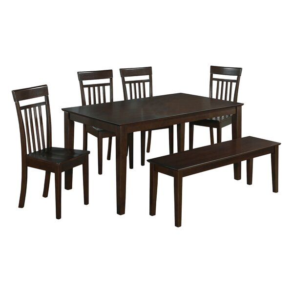 Smyrna 6 Piece Dining Set by Charlton Home Charlton Home