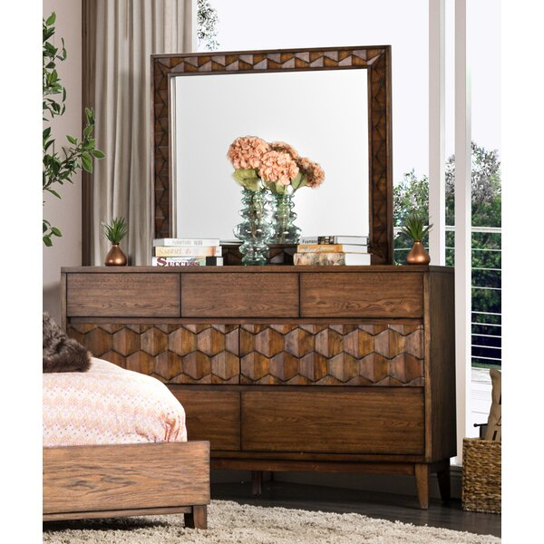 Keefe 7 Drawer Dresser with Mirror by Bloomsbury Market