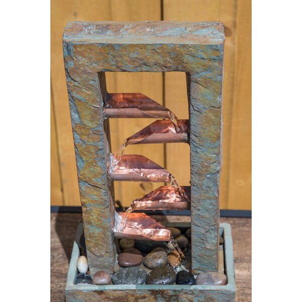 Anny Natural Stone Aquifer Indoor Table Fountain by Millwood Pines
