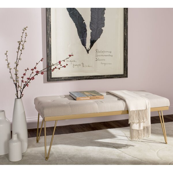 Varner Linen Bench by Mercury Row
