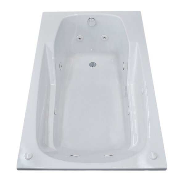 Anguilla 58.5 x 35.5 Rectangular Whirlpool Jetted Bathtub with Drain by Spa Escapes