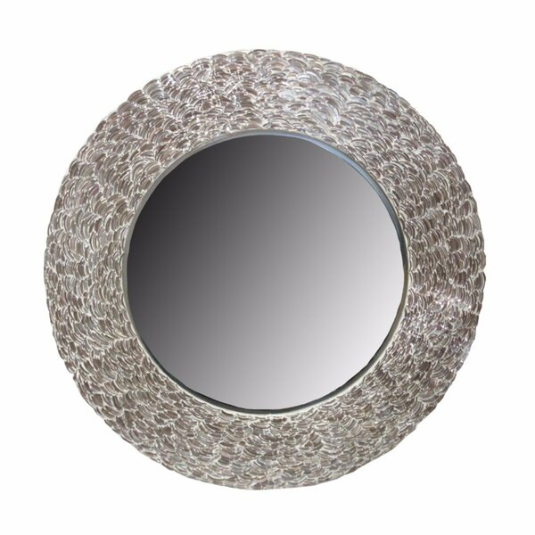 Fondren Enchanted Round Mosaic Accent Mirror by Highland Dunes
