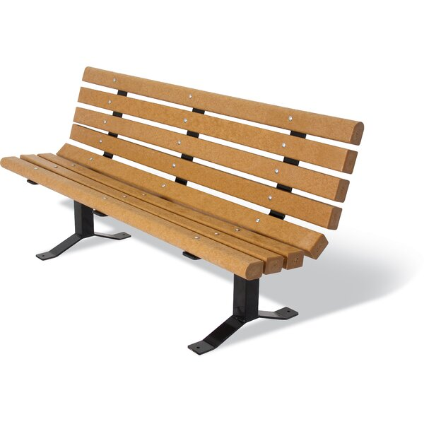 Carty Recycled Plastic Surface Mount Bench by Freeport Park