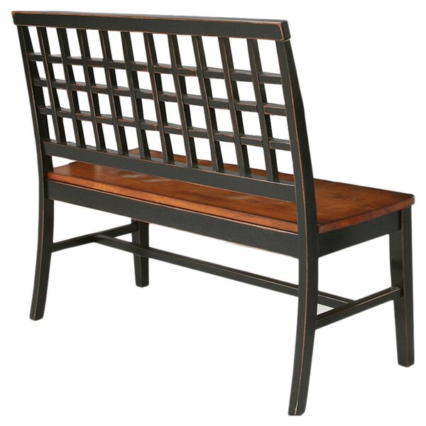Espy Two Seat Wood Bench by Darby Home Co