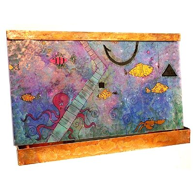 Galaxy Resin/Metal Happy Fish Wall Fountain by Harvey Gallery