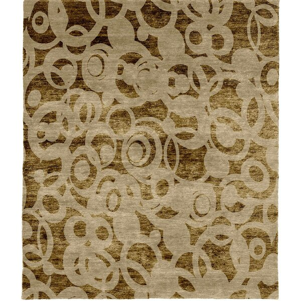 One-of-a-Kind Veasey Hand-Knotted Brown 8' Square Wool Area Rug