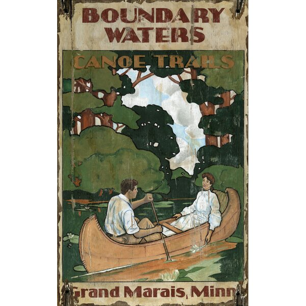 Boundry Waters Vintage Advertisement Plaque by Winston Porter