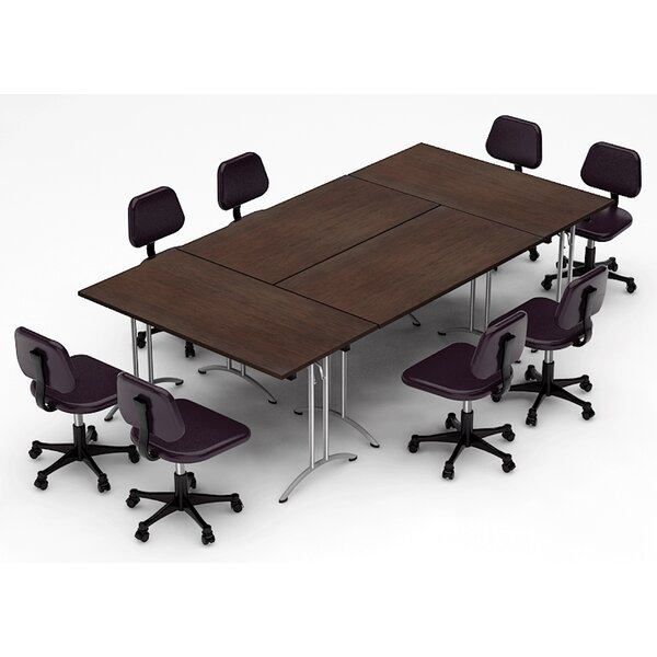 Meeting Seminar 4 Piece Rectangular 30H x 60W x 120L Conference Table Set by Team Tables