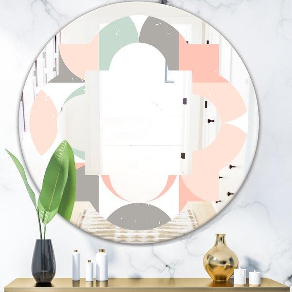 Quatrefoil Circular Pattern II Modern & Contemporary Frameless Wall Mirror