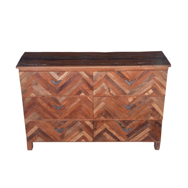 Frederick 6 Drawer Standard Dresser/Chest by Loon Peak