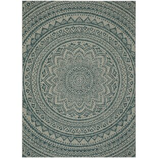 Belbekkar Multipurpose Indoor Outdoor Light Grey Teal Rug
