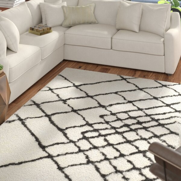 Briganti Hand-Tufted Ivory/Dark Gray Area Rug by Mercury Row