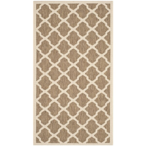Octavius Indoor/Outdoor Brown Area Rug by Charlton Home