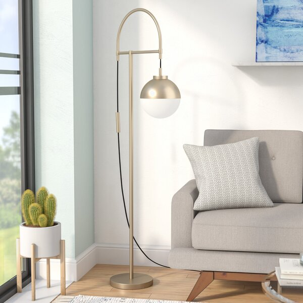 Clelia 68.9 Arched Floor Lamp by Langley Street