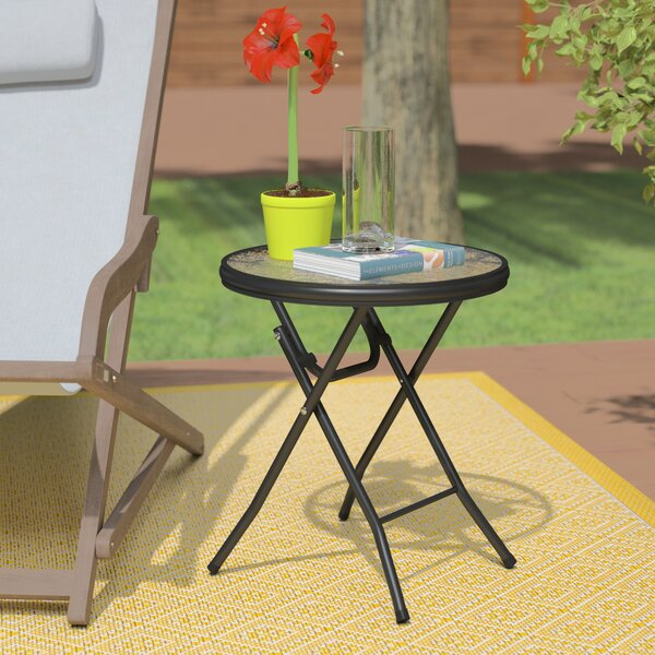 Lawrence 16 Round Folding Side Table by Ebern Designs