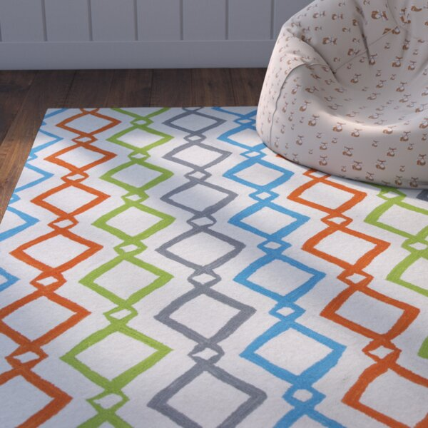 Zachariah Hand-Tufted Ivory Area Rug by Zoomie Kids