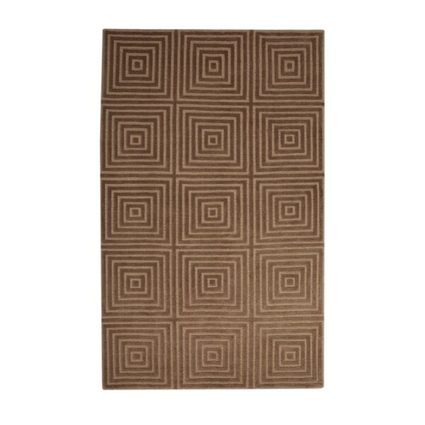 Tawney Hand-Knotted Gold/Brown Area Rug by Brayden Studio