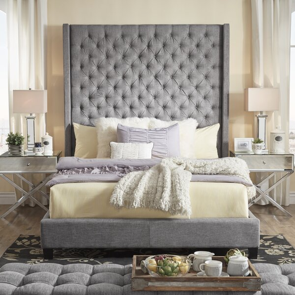Borchers Upholstered Standard Bed by Three Posts