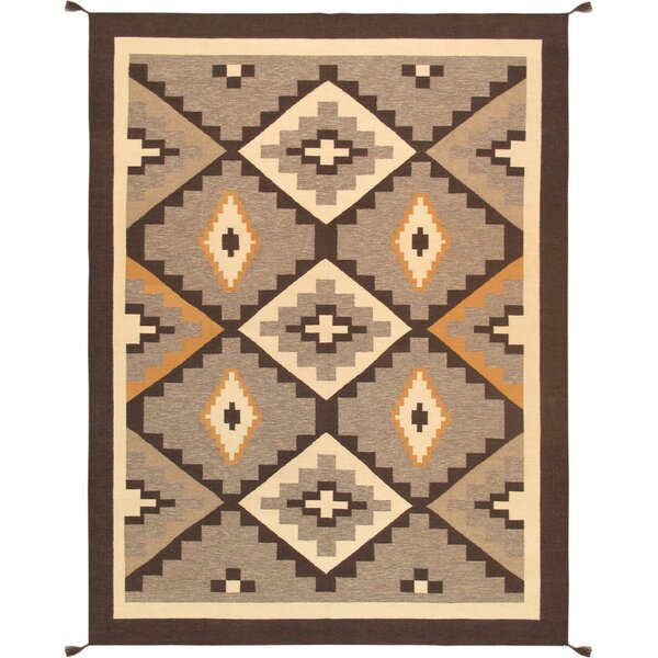 Kilim Hand-Woven Wool Brown/Beige Area Rug by Pasargad