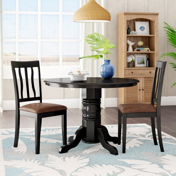 Langwater Traditional 3 Piece Dining Set by Beachcrest Home