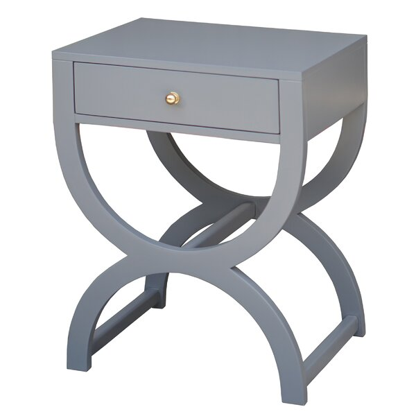 End Table with Storage by Worlds Away Worlds Away