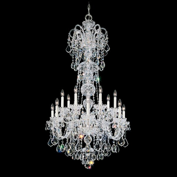 Olde World 14-Light Candle Style Tiered Chandelier By Schonbek