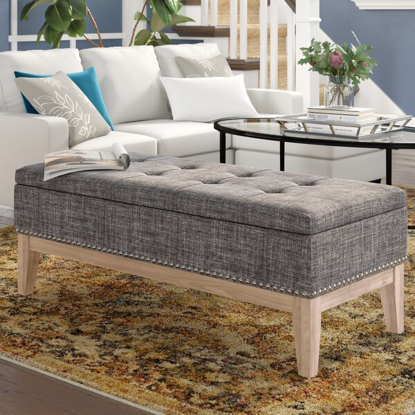 Lewistown Tufted Mid-Century Upholstered Storage Bench by Charlton Home