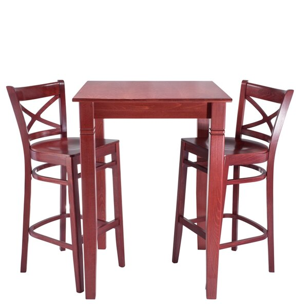 Eadie Wood Seat 3 Piece Pub Table Set by Darby Home Co