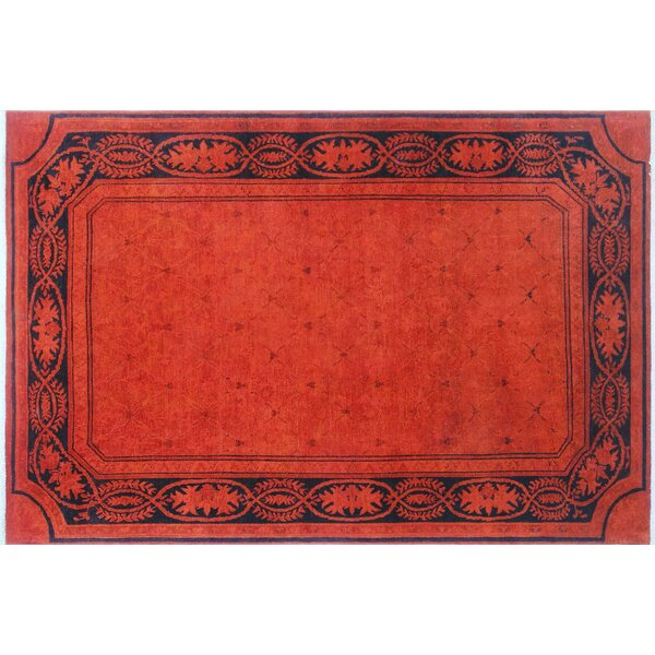 One-of-a-Kind Lani Hand-Knotted Orange Area Rug by World Menagerie