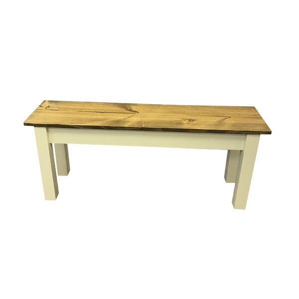 Galindo Wood Bench by August Grove August Grove